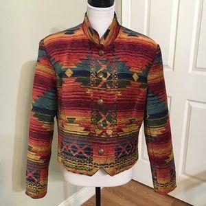 Vintage WRAPCollection Tribal Print Western Jacket